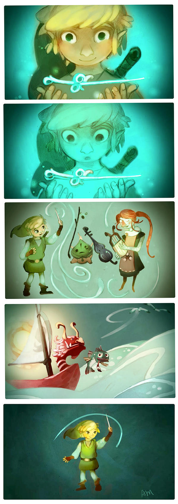 Wind Waker HD Fan Art Contest (Top 5 Winner!) by AmandaMullins