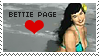 Bettie Page Stamp by karastamps