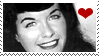 Bettie Page Stamp 3 by karastamps