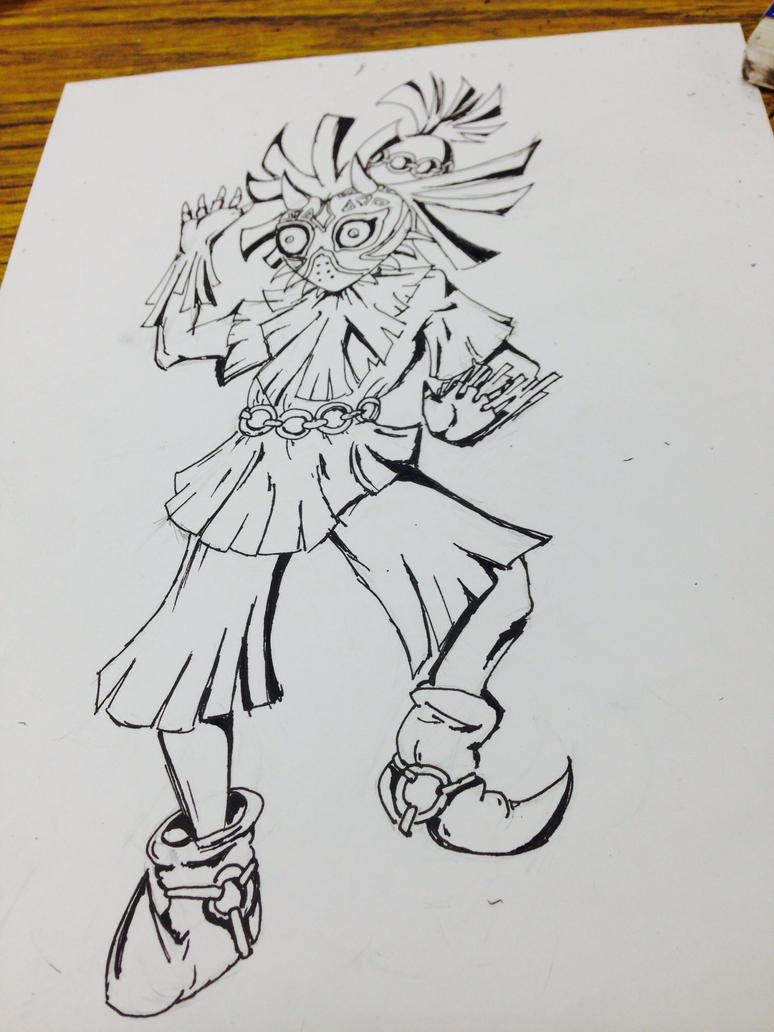 Skull Kid Inked by ryuuwho