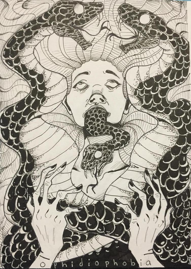 Ophidiophobia by ryuuwho