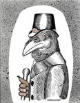 Javert The Raven by Crow-Conglomerate