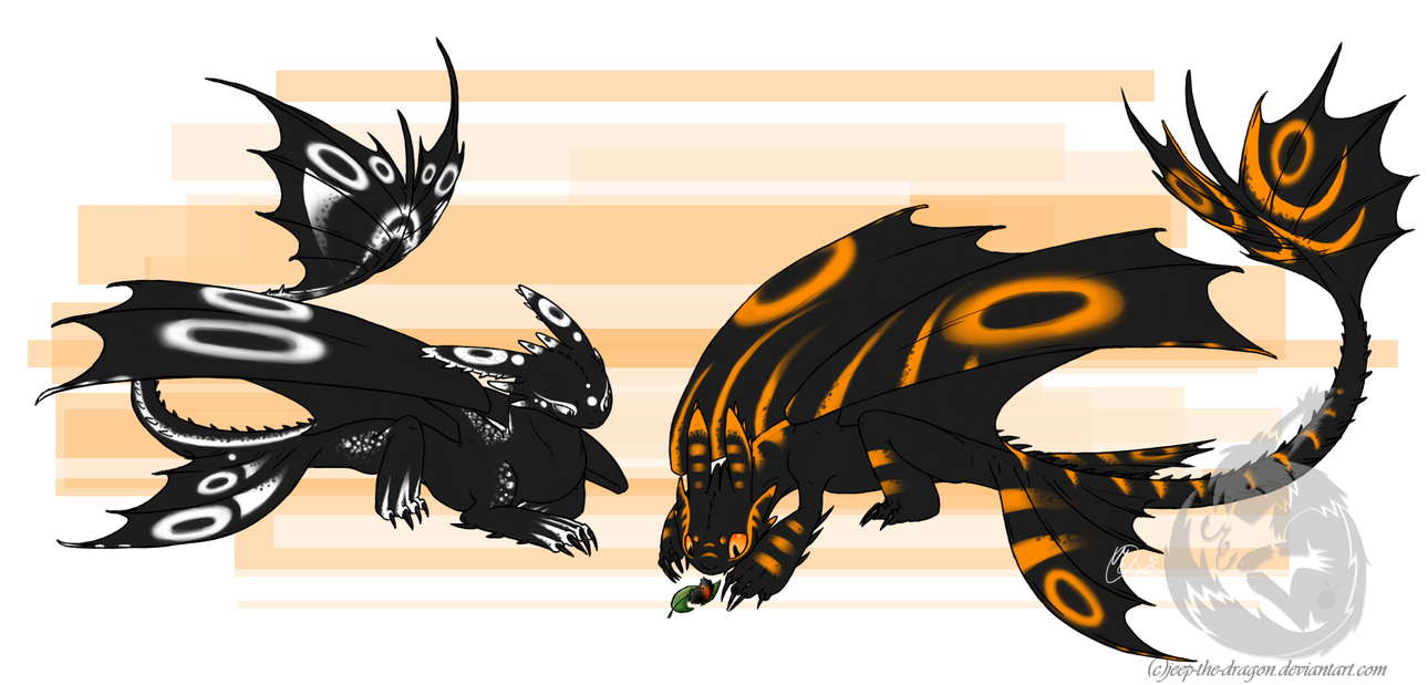 My Own Night Furies By Jeep The Dragon On Deviantart