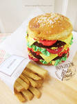 Double Cheeseburger Cake and Sugar Cookies Fries