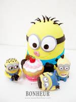 Minion Cake Ba ba ba banana by StrawberryStory