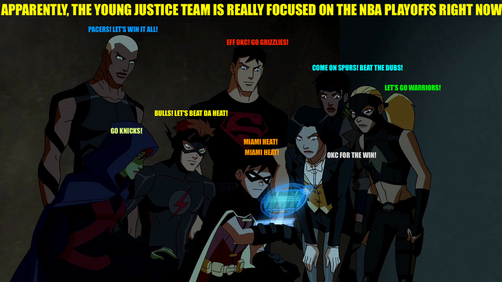 Young Justice The NBA Playoffs By Pokemon52Fighter