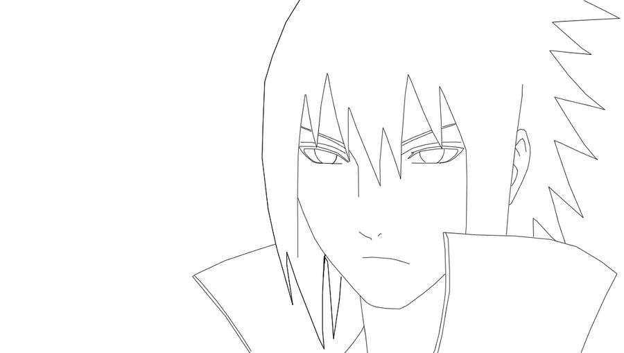 Sasuke Lineart : Sasuke lineart by elizabethcr on deviantart