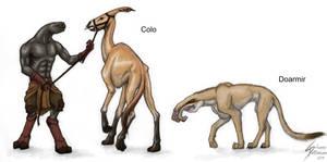 Sanghelian animals - Colo and Doarmir by Dragunalb