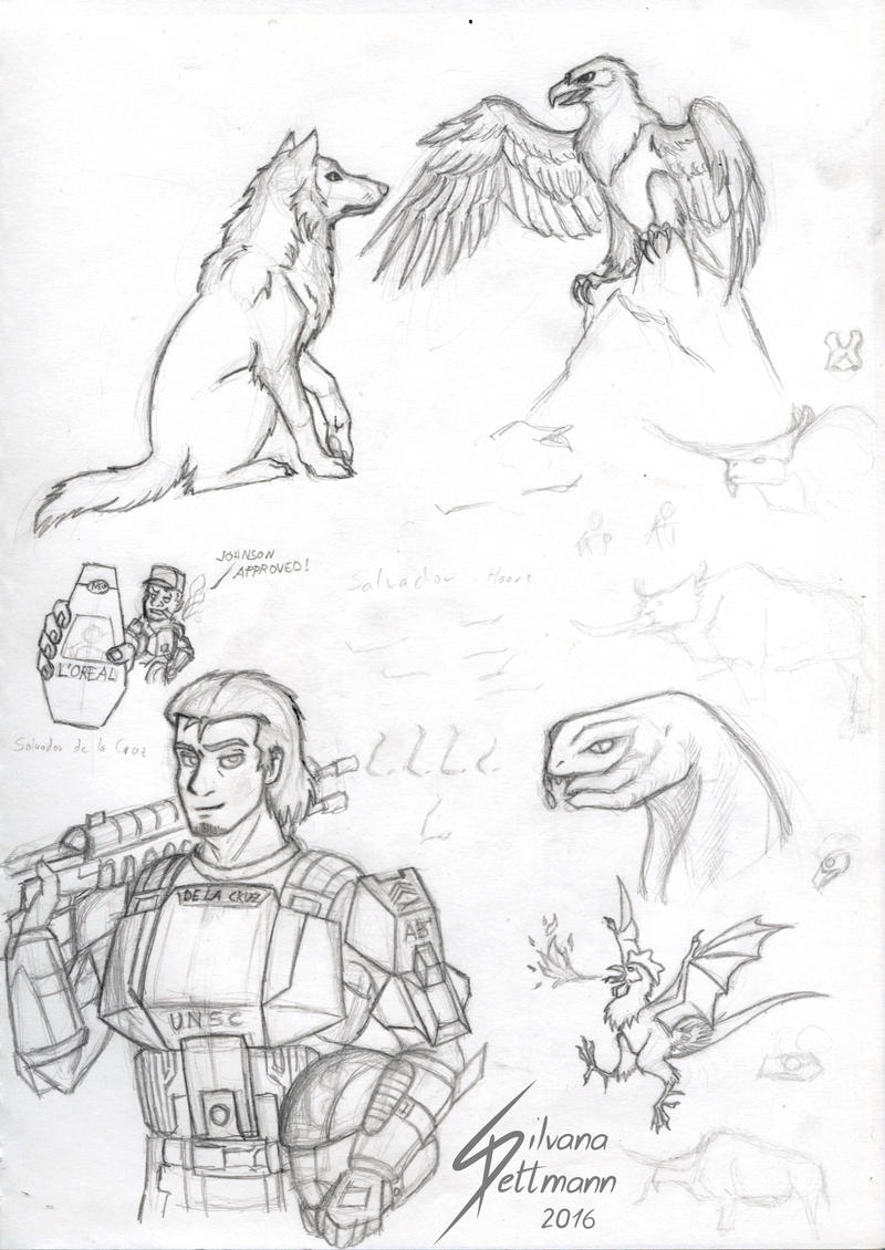 Some Halo doodles