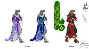 Kaeli garment variants by Dragunalb