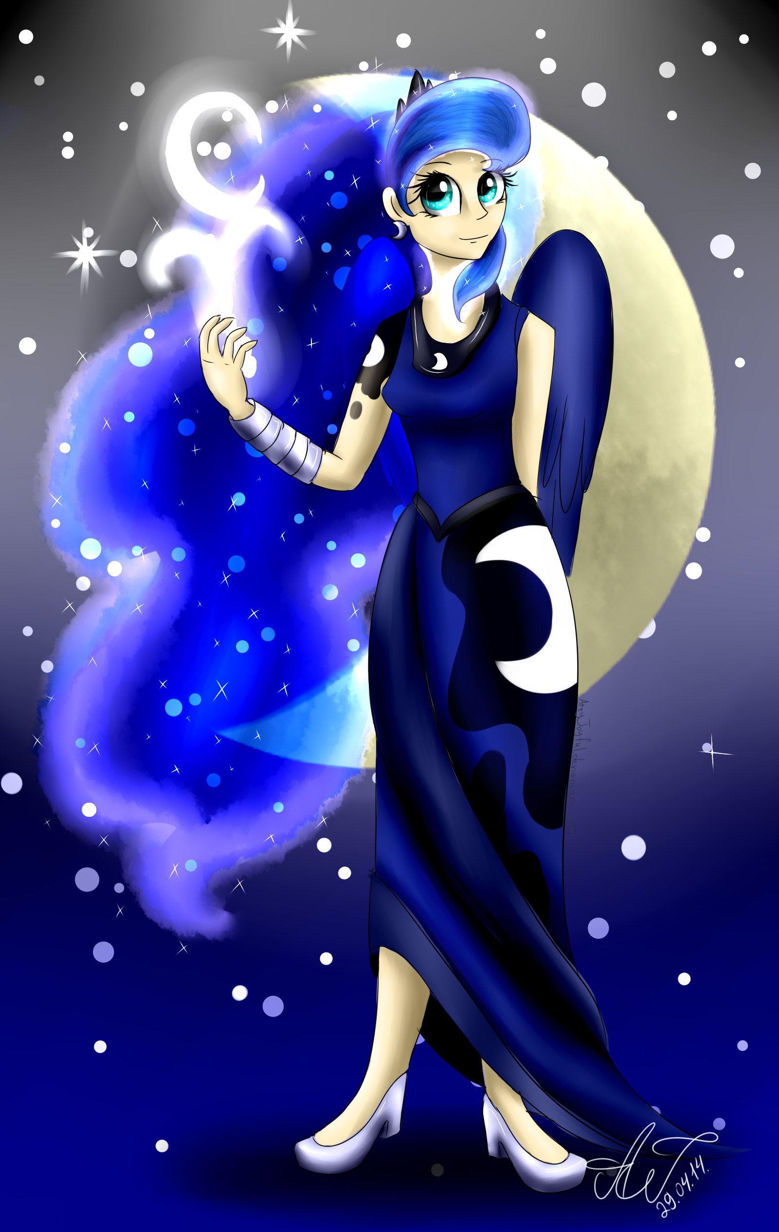 Princess Luna (human) By ArtyJoyful On DeviantArt