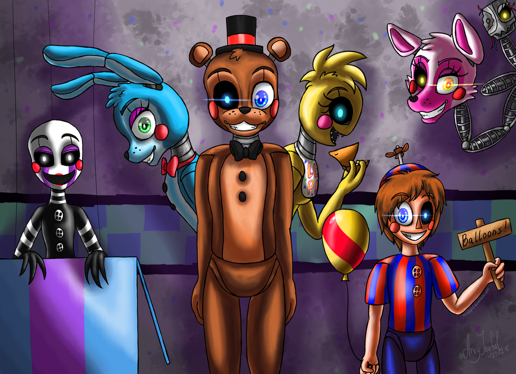 new and shiny five nights at freddy s 2 by artyjoyful on deviantart