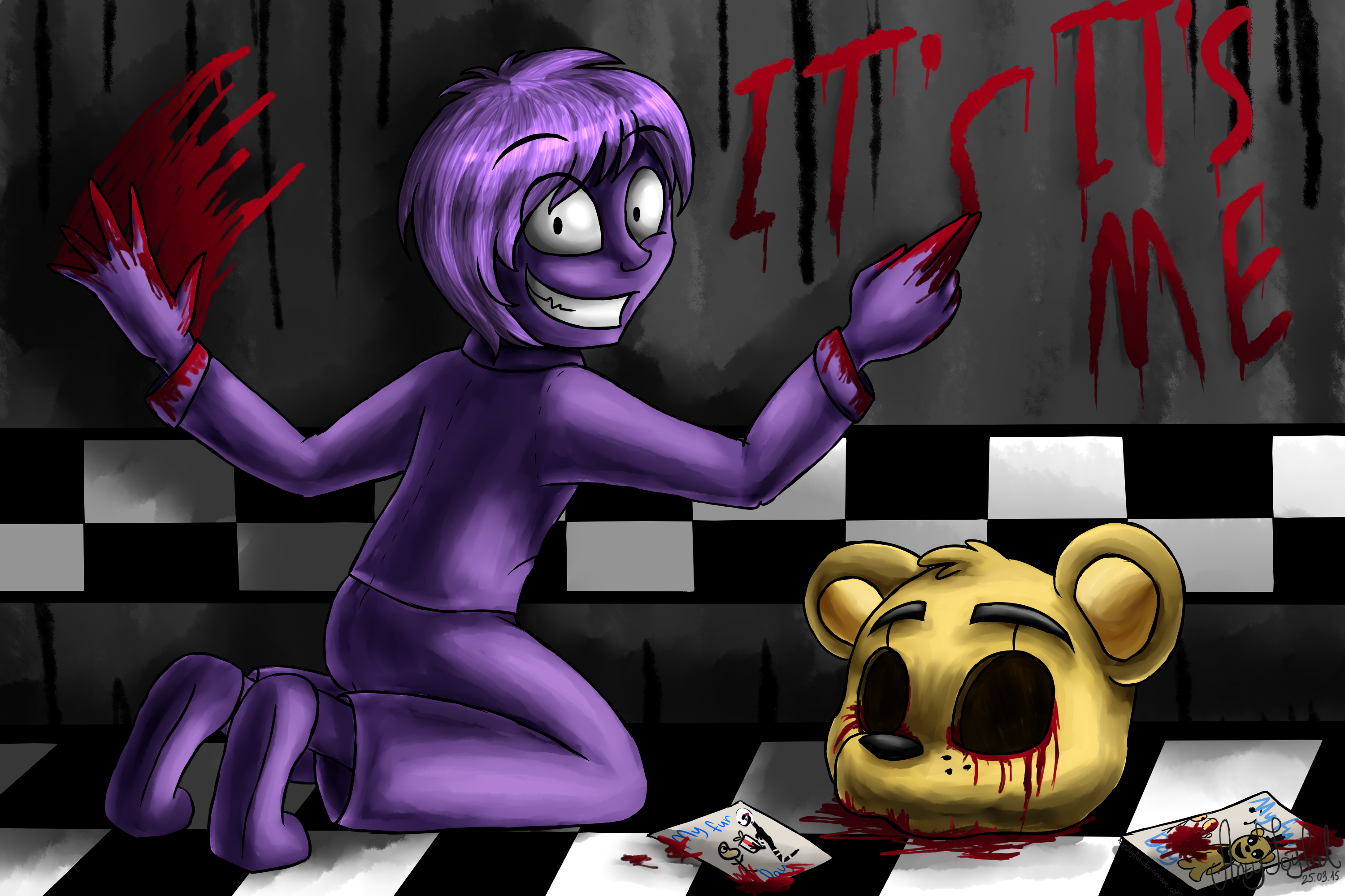 Purple Guy Five Nights At Freddys By Artyjoyful On -5547
