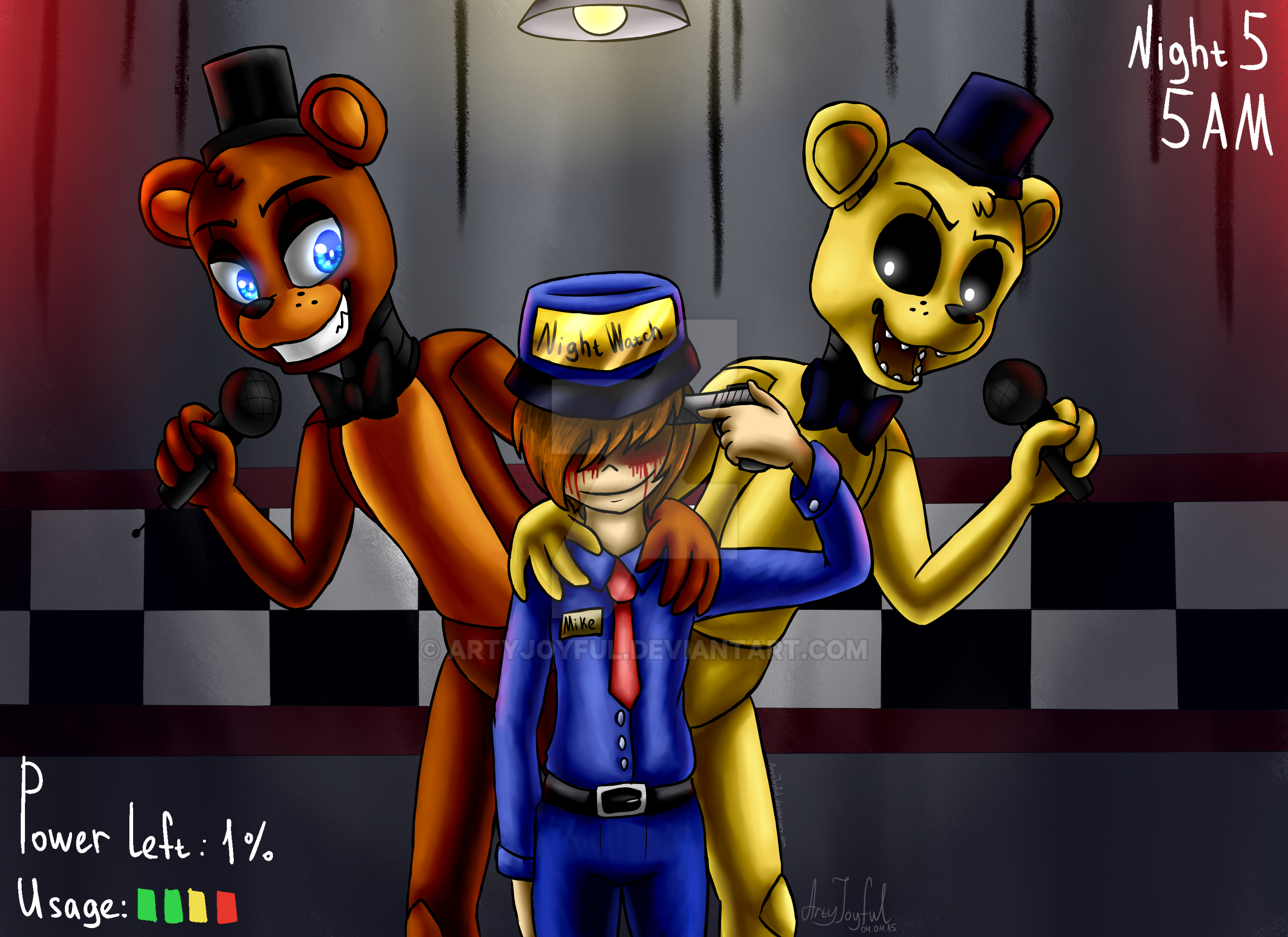 Game over five nights at freddy s by artyjoyful on deviantart
