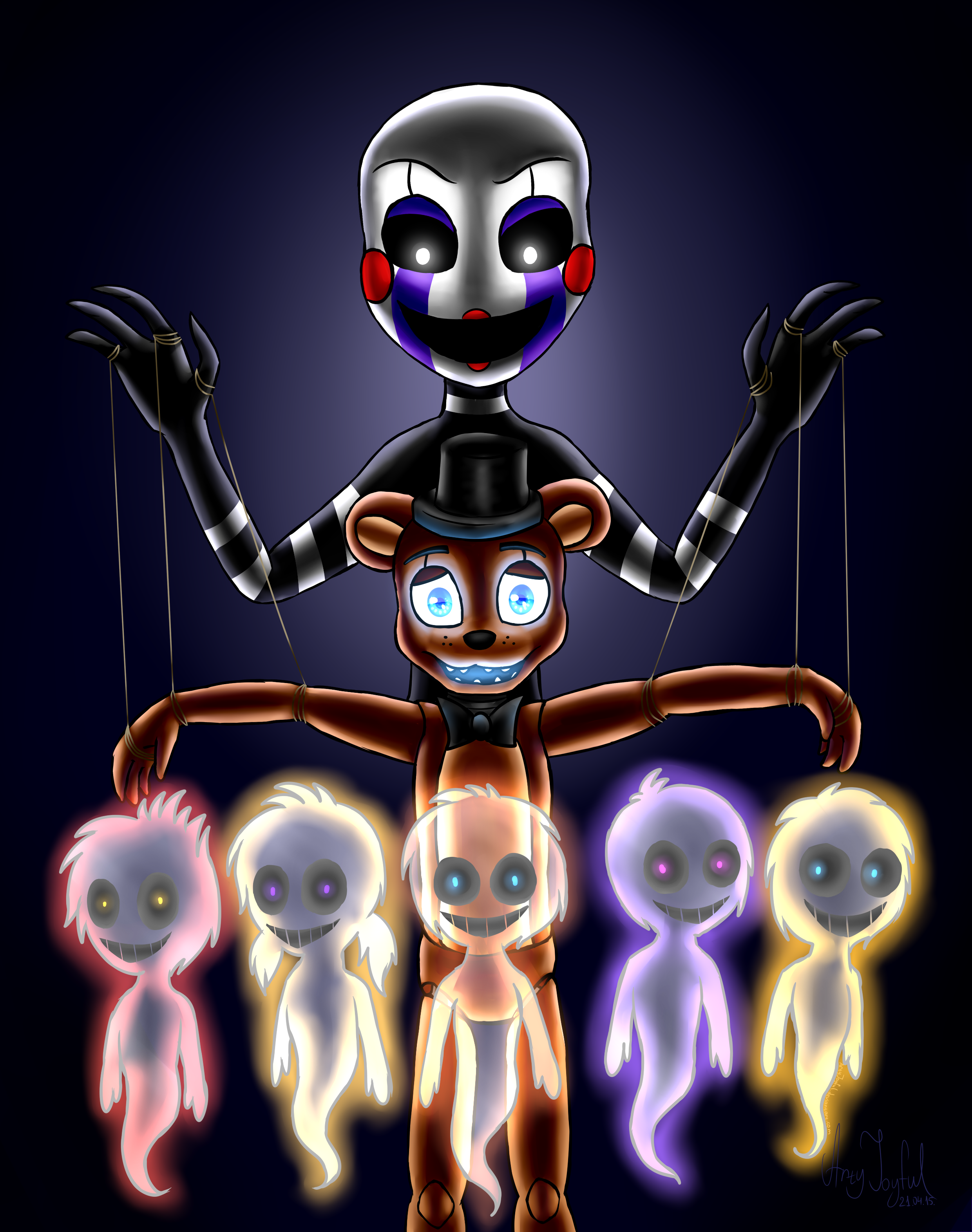 Five nights at freddys anime puppet