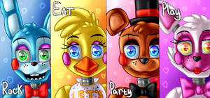 Toys band poster (Five Nights at Freddy's 2)