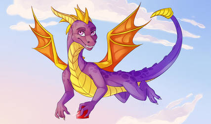 Spyro! (Spyro the Dragon) by ArtyJoyful