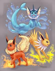 Vaporeon, Jolteon, Flareon! (Pokemon)