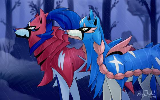 Zacian and Zamazenta (Pokemon)