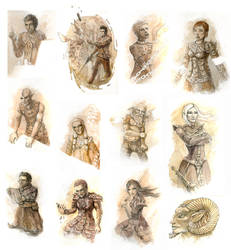 James Alan Gardner 's 'Fire and Dust' Characters by Ronamis