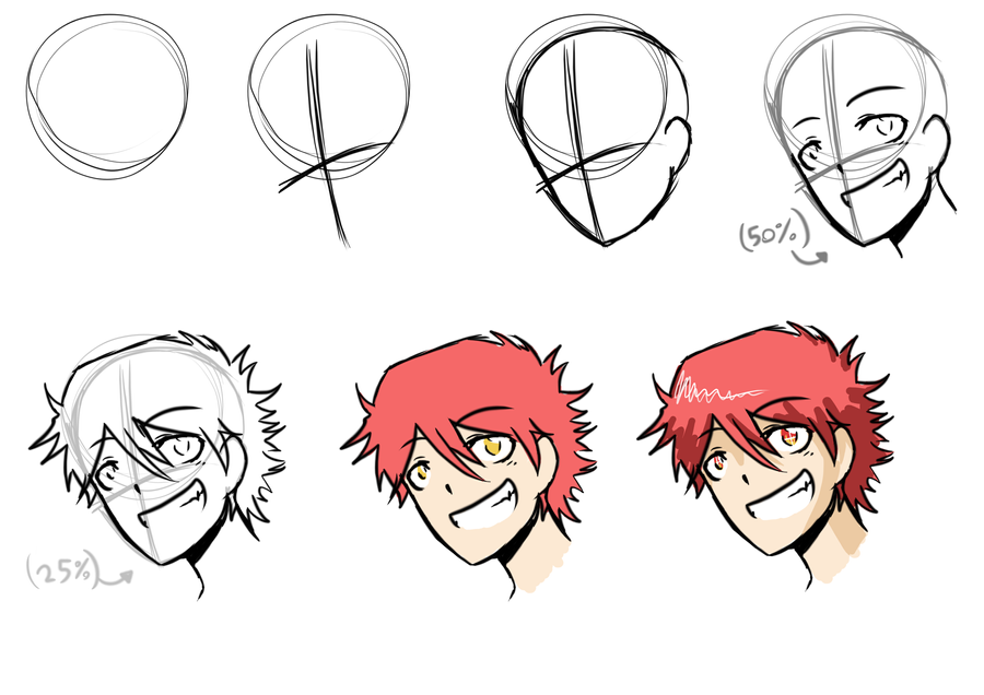 How i draw anime step by step by abd illustrates