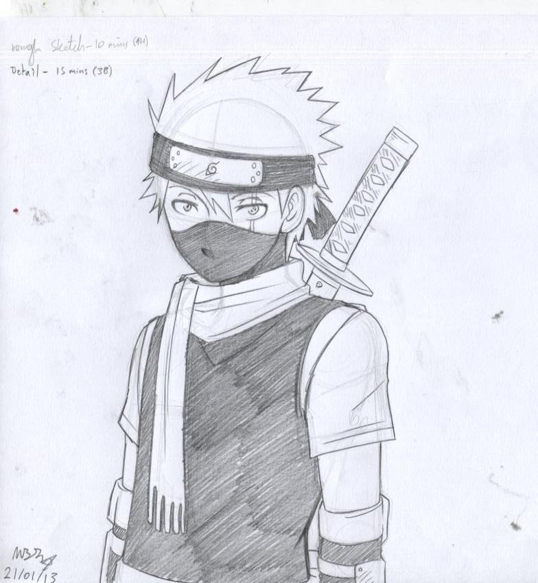 Young Kakashi sketch b...