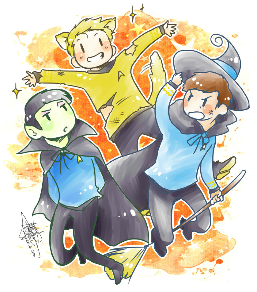 Star Trek Halloween ~! by mangarainbow