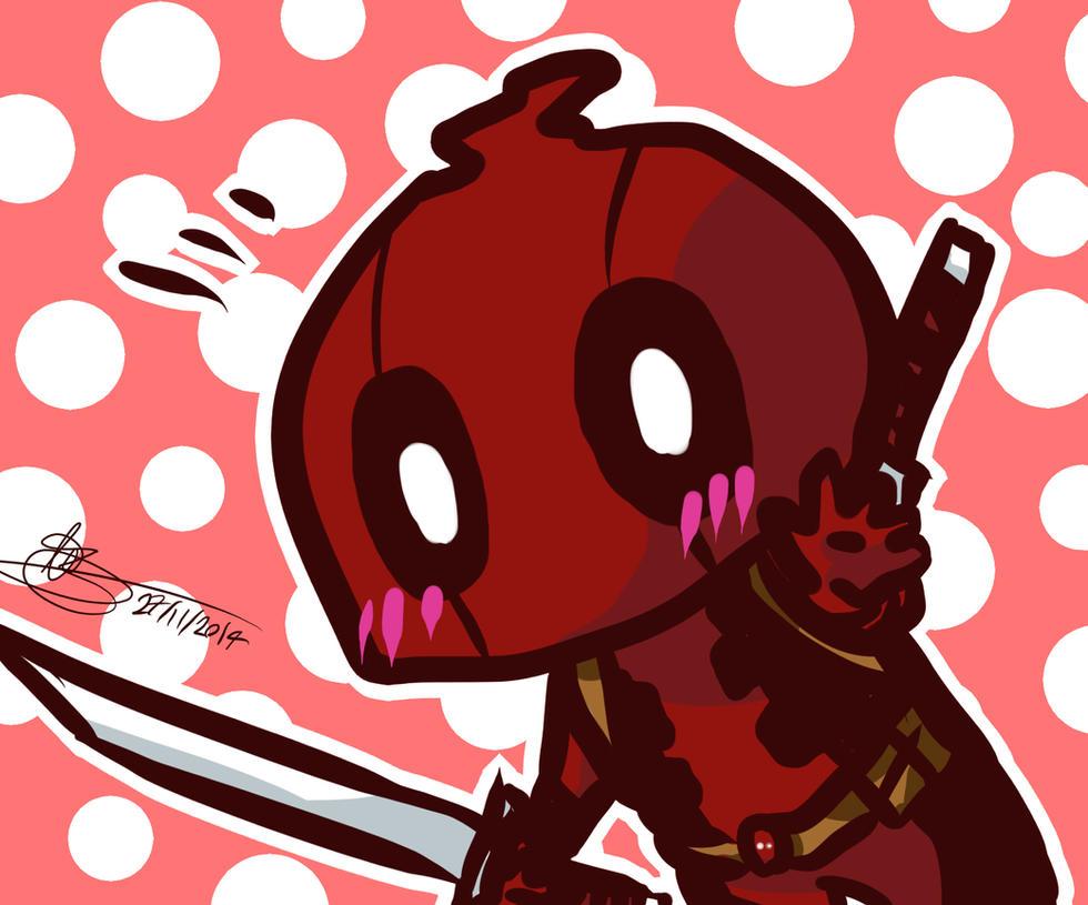 Deadpool - chibi doodle by mangarainbow