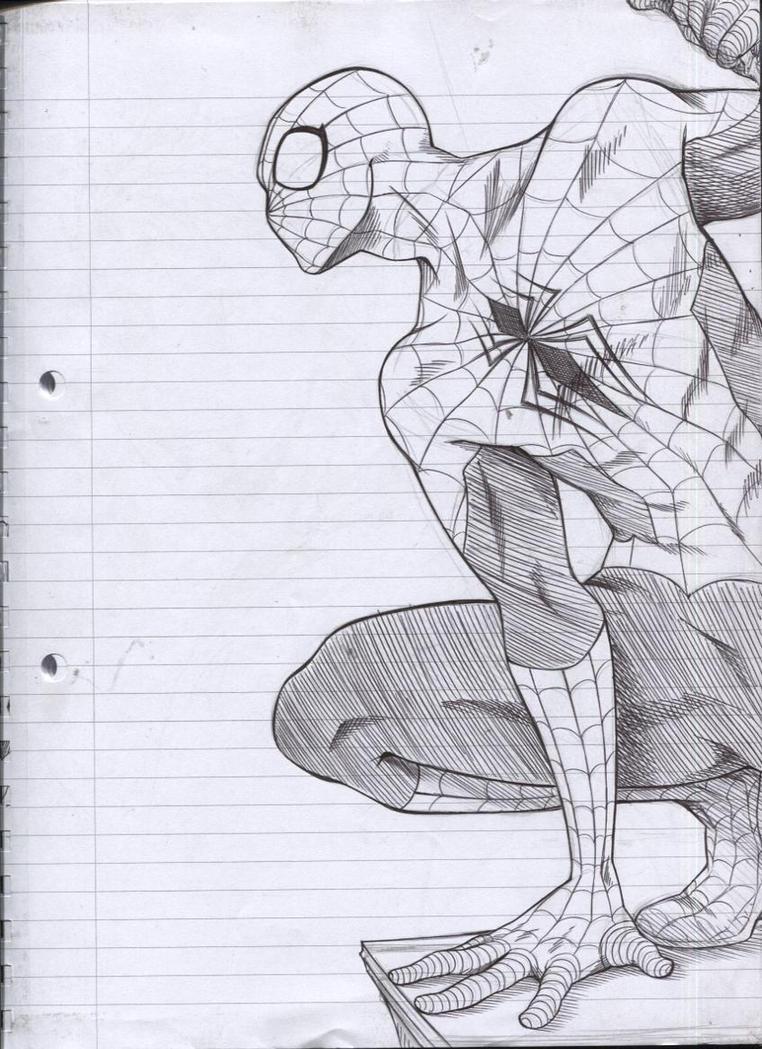 Spiderman - Biro sketch by mangarainbow