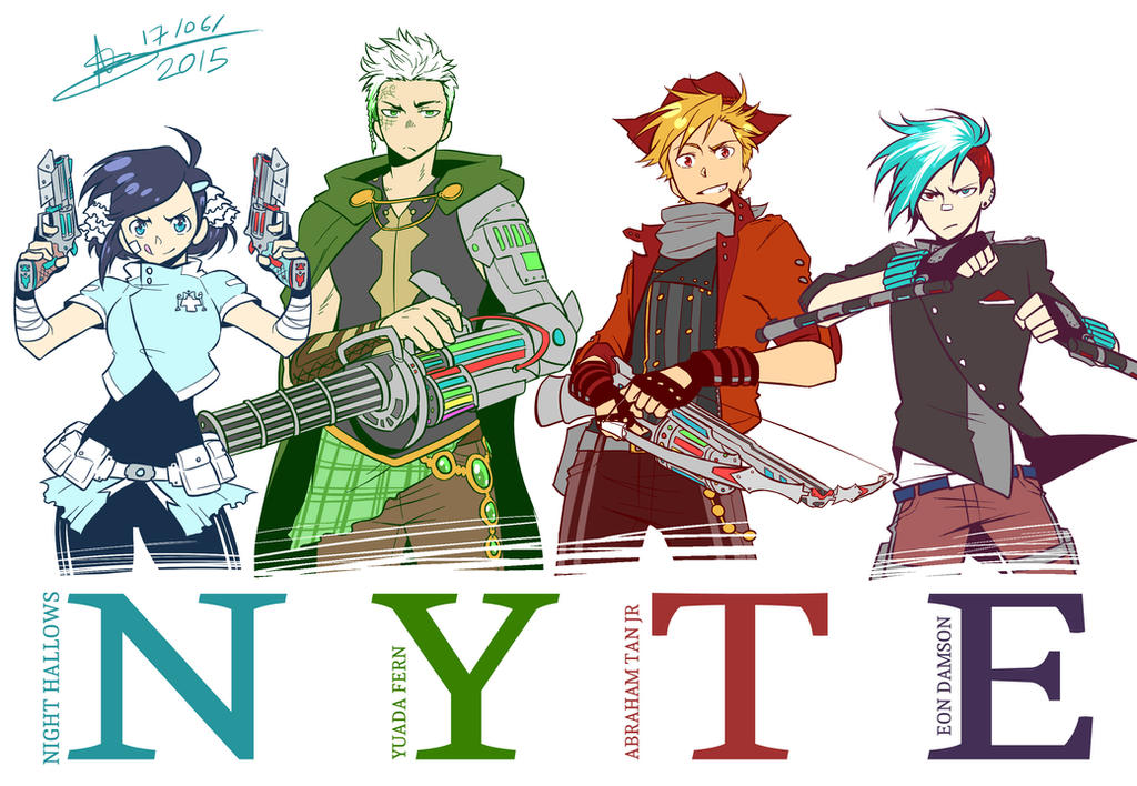 RWBY OCs - Team NYTE by mangarainbow