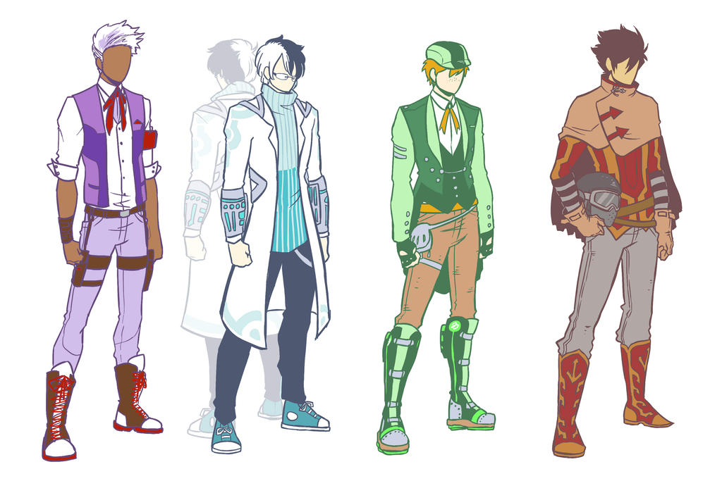 RWBY OCs - Team BTCHR - Costume Designs by mangarainbow on DeviantArt