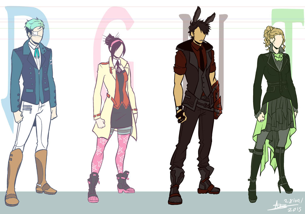 RWBY OCs - Special Unit RGNT - Costume Designs by ABD-illustrates on DeviantArt
