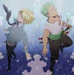 One Piece - Sanji and Zoro - Underwater
