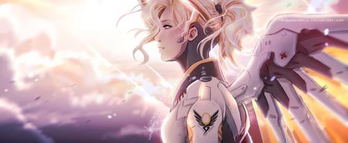 Overwatch - Mercy by ABD-illustrates