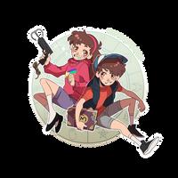 Gravity Falls - Pine Twins by ABD-illustrates