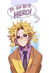 BNHA - All Might Doodle - (SPEEDPAINT!) by ABD-illustrates