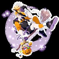 Trick or Treat - Halloween Sticker [SPEEDPAINT] by ABD-illustrates