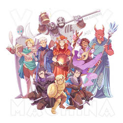 Vox Machina! [SPEEDPAINT] by ABD-illustrates