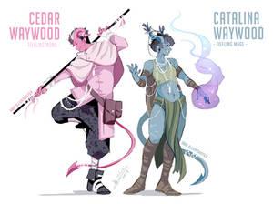 DnD Character Designs: the Waywood Siblings