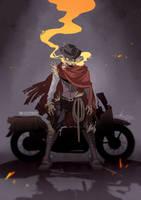 Ghastly Biker - (Character Design) by ABD-illustrates
