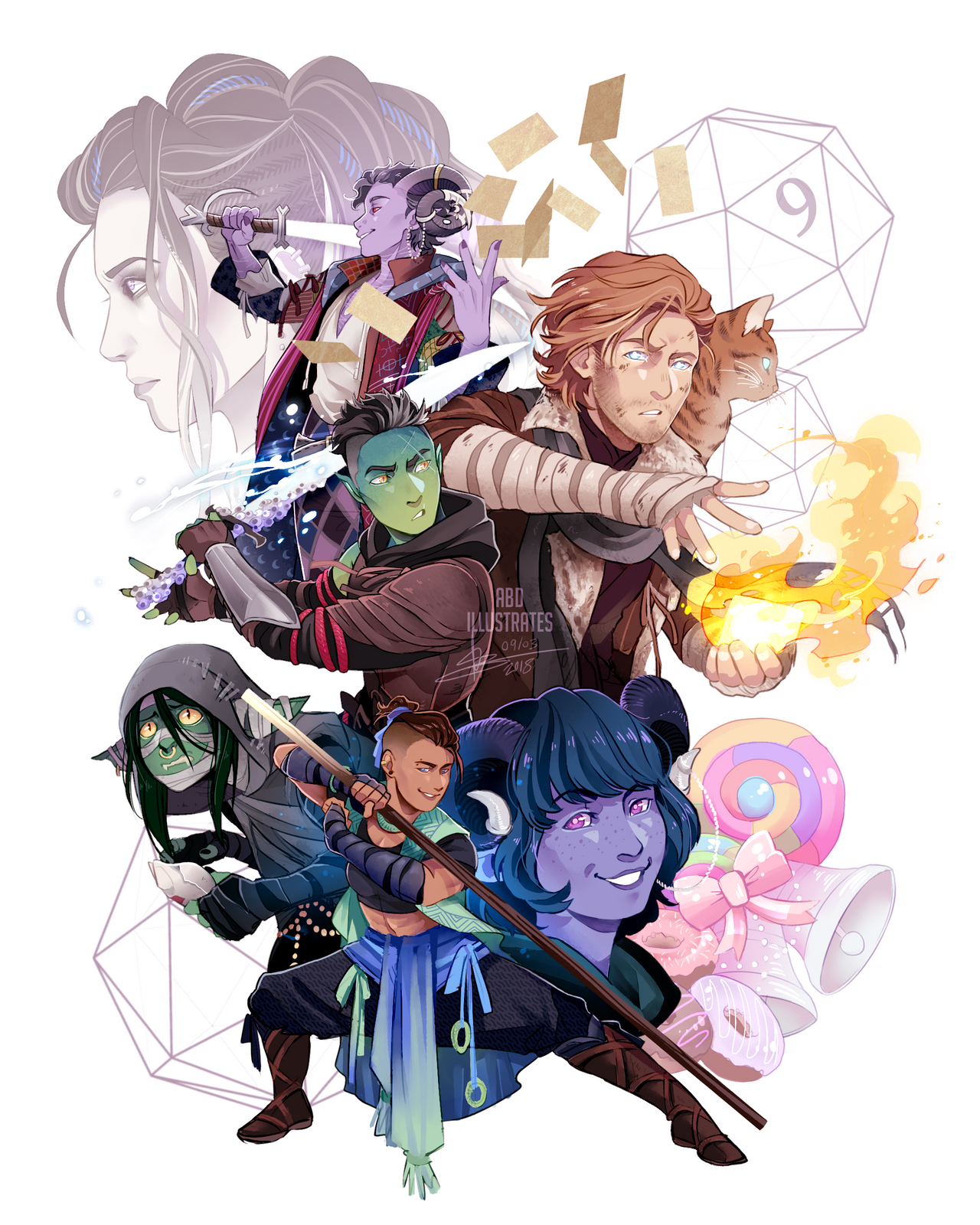 Critical Role Major Arcana: The Mighty Nein [SPEEDPAINT] By ABD