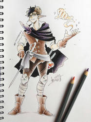 DnD doodle - Paddy: Summer gear by ABD-illustrates
