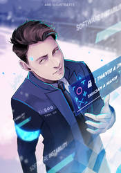 Detroit: Become Human - Connor [SPEEDPAINT] by ABD-illustrates