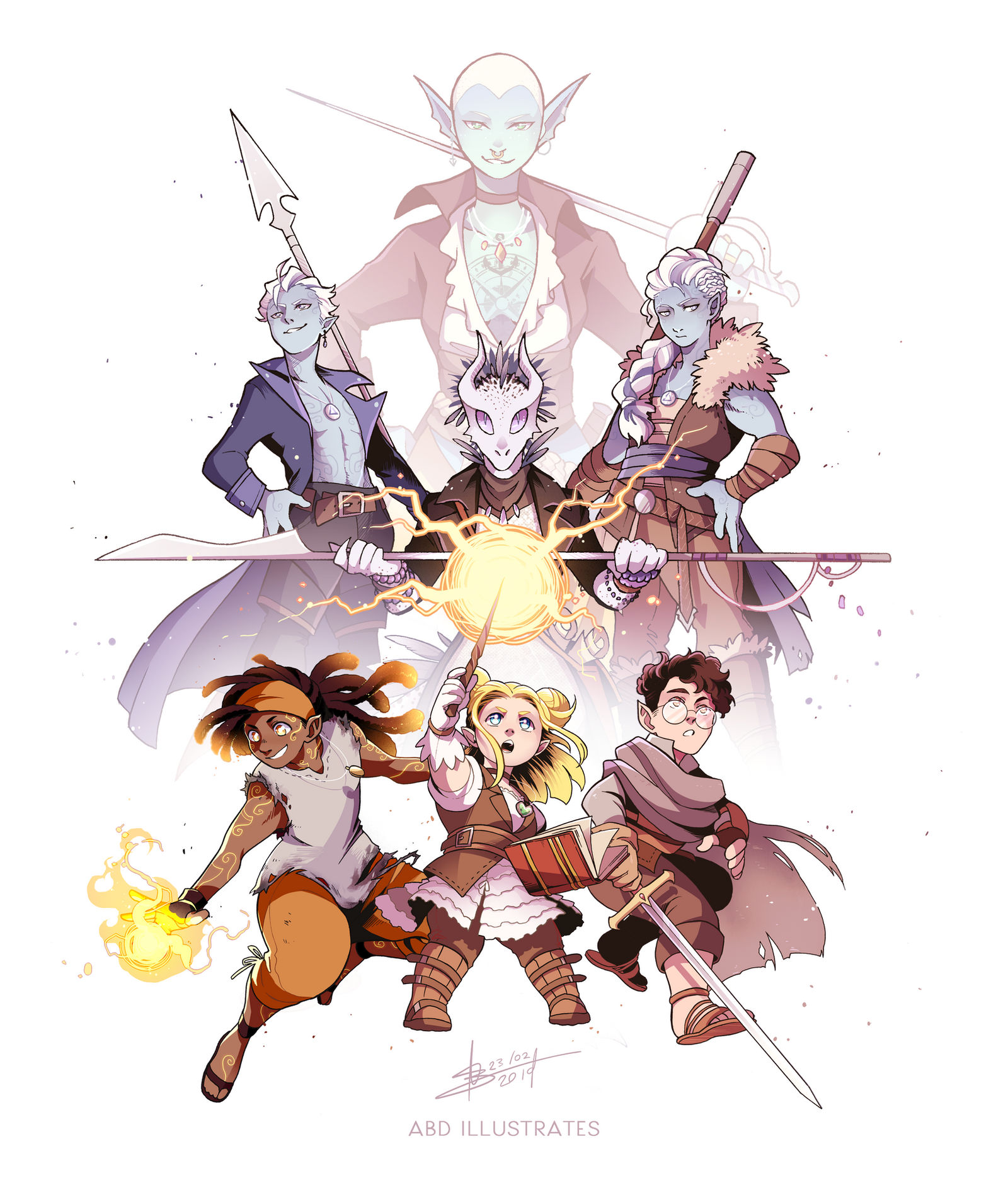 Adventures In Questing Dnd Commission By Abd Illustrates