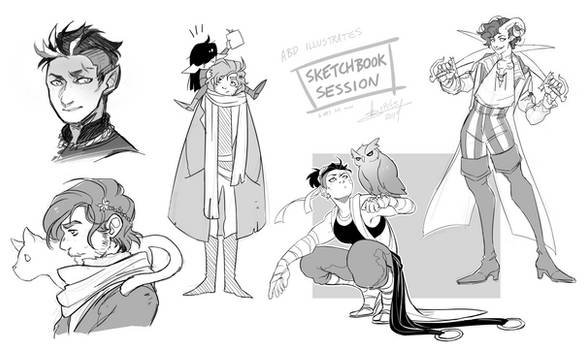 SKETCHBOOK SESSION - Mighty Nein by ABD-illustrates