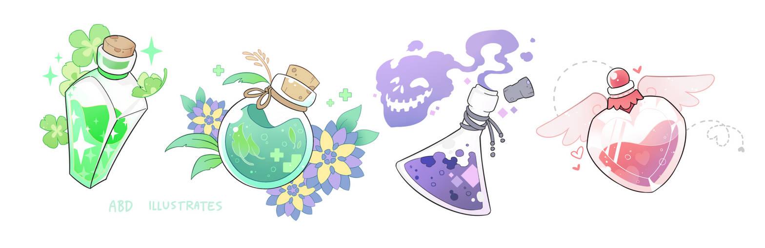 Potion Bottles [SPEEDPAINT]