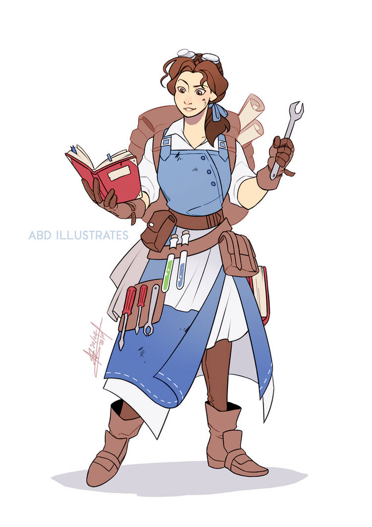 Belle the Artificer - Disney and Dragons by ABD-illustrates