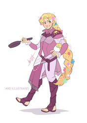 Rapunzel the Cleric | Disney and Dragons by ABD-illustrates
