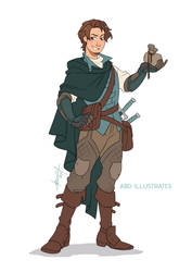 Flynn the Rogue | Disney and Dragons by ABD-illustrates