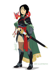 Mulan the Fighter | Disney and Dragons by ABD-illustrates